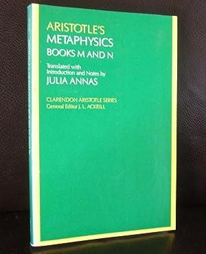 Aristotle's Metaphysics Books M and N (Clarendon: Julia Annas (Translated