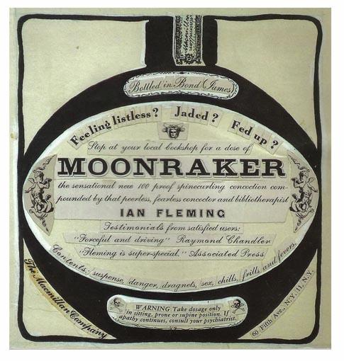 Original advertising artwork for the James Bond novel 'Moonraker': [IAN FLEMING / ...