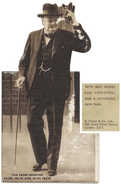 Christmas Greetings card: CHURCHILL, [Sir] Winston