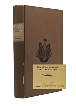 Lady Chatterley's Lover.: LAWRENCE, D.H. (1885-1930).