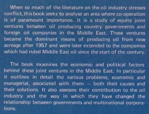 Joint Ventures in Middle East Oil 1957-75: Dr P J Stevens