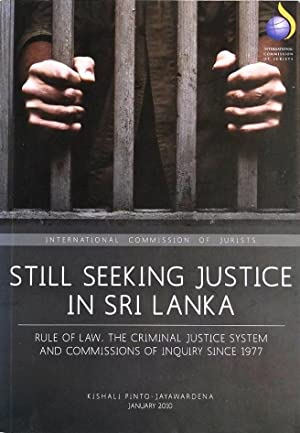 Still Seeking Justice in Sri Lanka -: Kishali Pinto Jayawardena