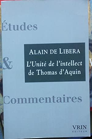 L'Unité de l'intellect de Thomas d'Aquin