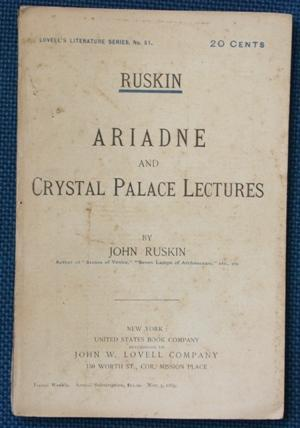 Ariadne and Crystal Palace Lectures