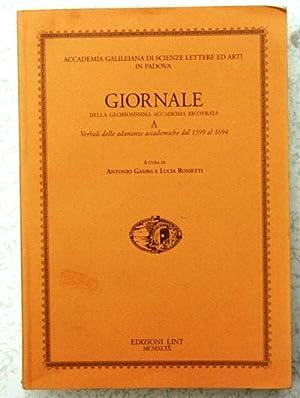Giornale della gloriosissima accademia ricovrata: Gamba - Rossetti