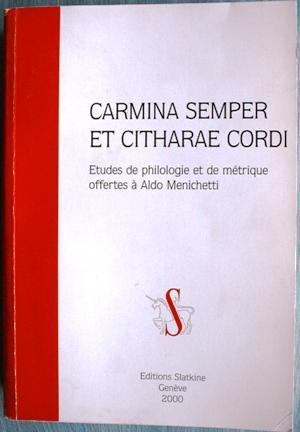 Carmina semper et citharae cordi: Gerard-zai - Gresti - Perrin - Vernay - Zenari