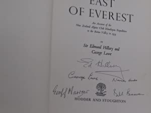 EAST OF EVEREST: Hillary, Sir Edmund and Lowe, George