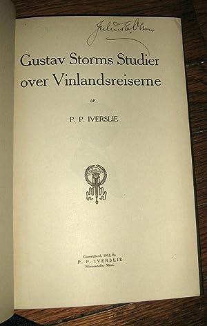 Gustav Storms Studier over Vinlandsreiserne: Iverslie, P. P.