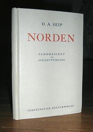 Norden Samhorighet Og Sprakutvikling: Seip, Didrik Arup