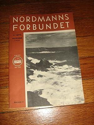 Nordmanns Forbundet November 1938: Nordmanns Forbundet