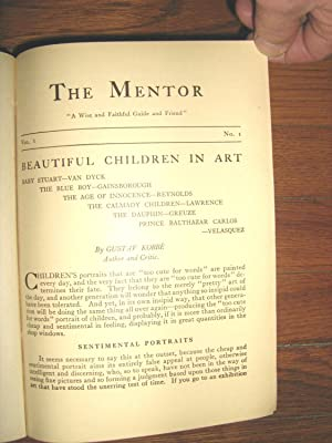 The Mentor Volume I Numbers 1 through 24 Complete in a Bound Volume for 1913: Forbush, Edward Howe;...