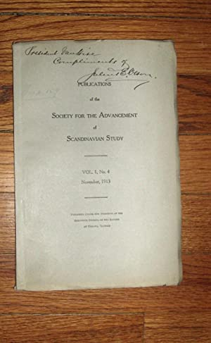 Publications of the Society for the Advancement of Scandinavian Study November 1913: Flom, George (...