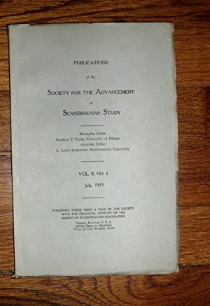 Publications of the Society for the Advancement of Scandinavian Study July 1915: Flom, George T. (...