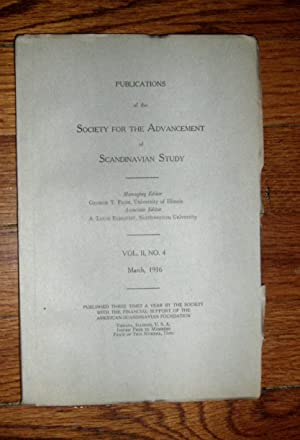 Publications of the Society for the Advancement of Scandinavian Study March 1916: Flom, George T. (...