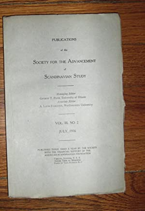 Publications of the Society for the Advancement of Scandinavian Study July 1916: Flom, George T. (...