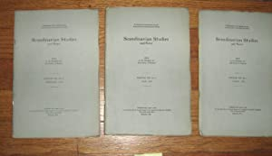 Scandinavian Studies and Notes 3 Issues February, May and August 1923: Sturtevant, A.M. (editor)