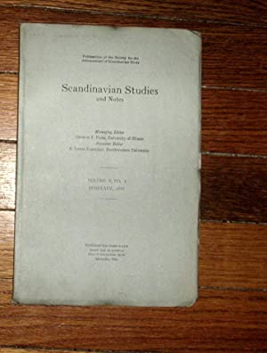 Scandinavian Studies and Notes February 1918: Flom, George ( editor)