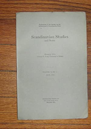 Scandinavian Studies and Notes May 1918: Flom, George ( editor)
