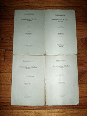 Scandinavian Studies and Notes 4 Issues Complete Year Feb, May, August November 1919: Flom, George ...