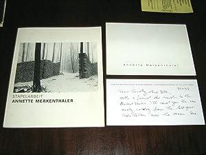 Stapelarbeit (with ALS on the author's stationary): Merkenthaler, Annette