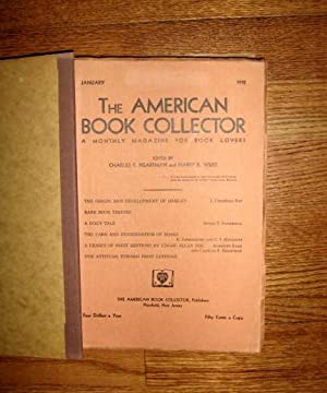 The American Book Collector : A Monthly Magazine for Book Lovers (seven issues) 1932: Heartman, ...