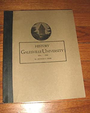 A Brief History of Galesville University 1854 - 1940: Giere, Arthur