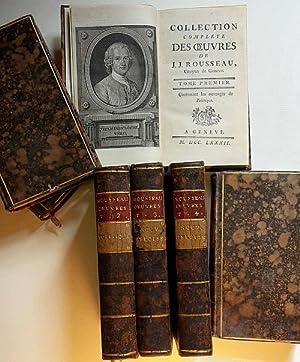 Collection complete des oeuvres de J.J. Rousseau,: Rousseau Jean-Jacques (1712-1778).