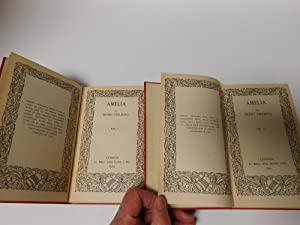 Amelia ( in Two Volumes Originally printed in 1751, in one volume): Henry Fielding