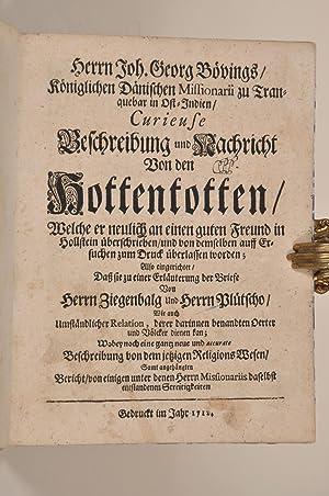 Curieuse Beschreibung und Nachricht von den Hottentotten;: Böving, J.G.:
