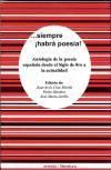 siempre habrá poesía! : antología de la: Martín Sánchez, Juan