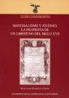 MATERIALISMO Y ATEISMO. LA FILOSOFIA DE UN LIBERTINO DEL SIGLO XVII - MARCELINO RODRIGUEZ DONIS