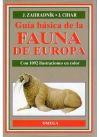 GUÍA BÁSICA DE LA FAUNA DE EUROPA - J. Cihar; J. Zahradnik