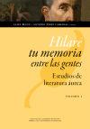 Hilaré tu memoria entre las gentes: B�gue, Alain; P�rez Lasheras, Antonio