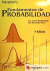 Fundamentos de Probabilidad 3ª Edición - UNED: MARTÍN PLIEGO, FRANCISCO