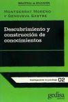 Descubrimiento y construcción de conocimientos: Montserrat Moreno Marimón;