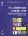 Herramientas para comentar textos (Alumno): Amable López Soriano;