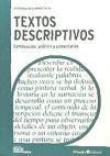 Textos descriptivos: composición, análisis y comentarios: Carratalá Teruel, Fernando
