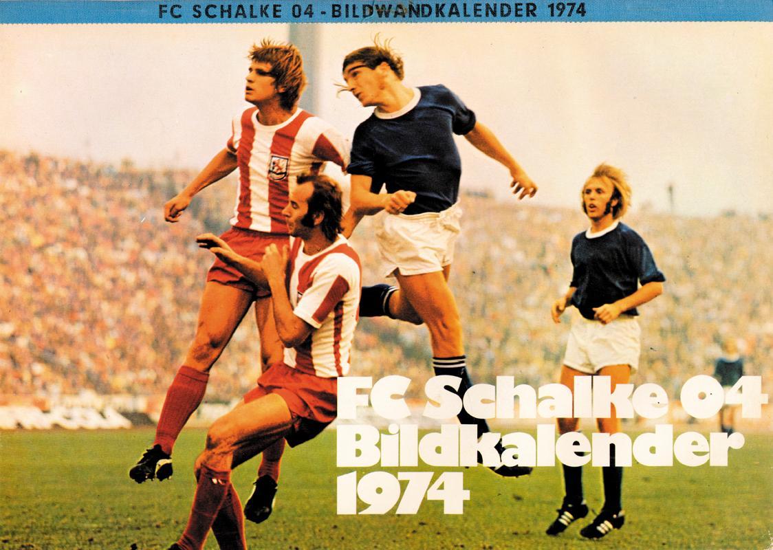 Foto ohne Signatur Original Foto Schalke 04 Mannschaft 1970er Jahre .