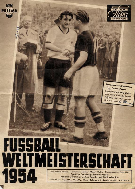 Fussball Weltmeisterschaft 1954 Prisam Das