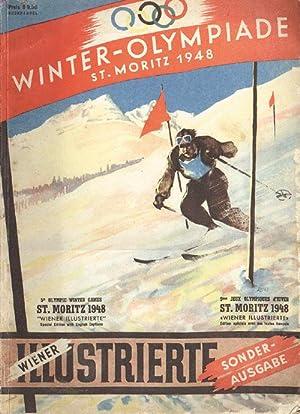 """Die 5.Olympischen Winterspiele St.Moritz 1948. Sonderausgabe der """"Wiener Illustrierte"""".: ..."""