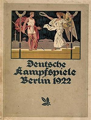 Deutsche Kampfspiele 1922.: Deutsche Kampfspiele 1922, Bensemann u.a.