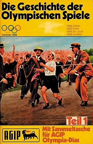 Die Geschichte der Olympischen Spiele. Mit Sammeltasche für AGIP Olympia-Dias, Teil 1 bis Teil...