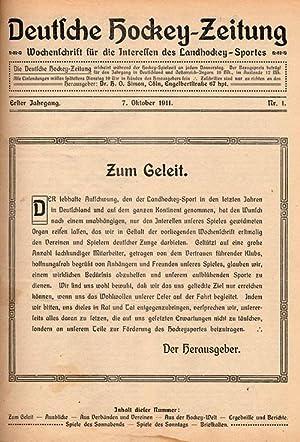 Wochenschrift für die Interessen des Landhockey-Sportes. 1.Jahrgang, Nr.1-32, Okt.1911 - Mai ...