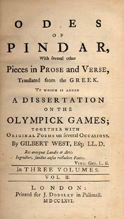 Odes of Pindar, with several other pieces in prose and verse,translated from the Greek. To which is...