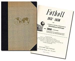 Fotboll 1957-1958.Svenska Fotbollförbundets med Officiella Rapport VM 1958. Omfattar samtliga ...