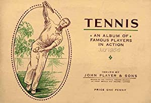 Tennis. An Album of famous players in action.: Sammelbilder-Player