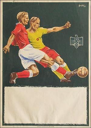 Blanco Ankündigungsplakat für Fußballspiele 1930er Jahre: Ankündigungsplakat 1938