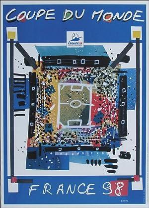 """COUPE DU MONDE FRANCE 1998"""". 50x70 cm.: Plakat WM1998"""