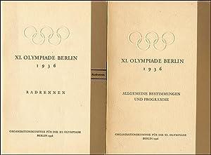 Reglements XI. Olympiade Berin 1936 1) Radrennen 38 Seiten. 2) Allgemeine Bestimmungen und ...