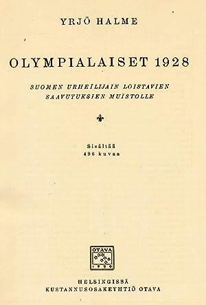 Olympialaiset 1928.: Halme, Yrj�